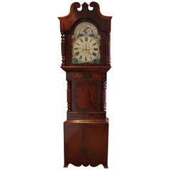 Vast Moon Roller Mahogany Longcase Clock