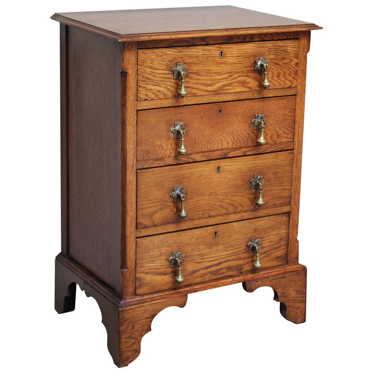 Small proportioned solid oak chest of drawers at stdibs