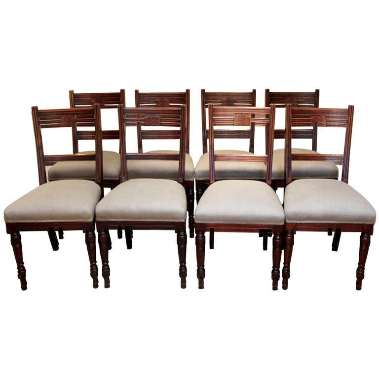 set of eight edwardian walnut dining chairs at 1stdibs