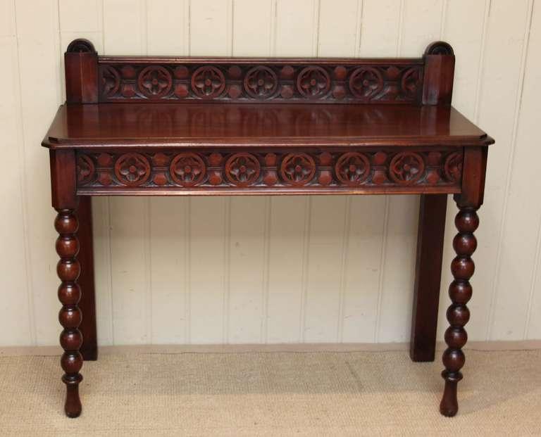 late victorian mahogany hall table at 1stdibs