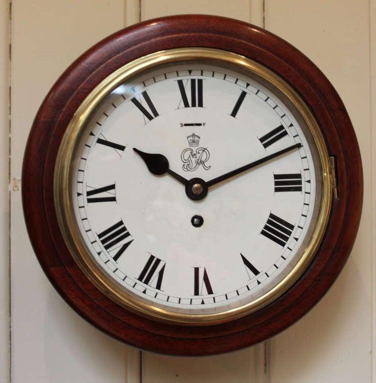 Original 8 Dial Post Office Wall Clock At 1stdibs