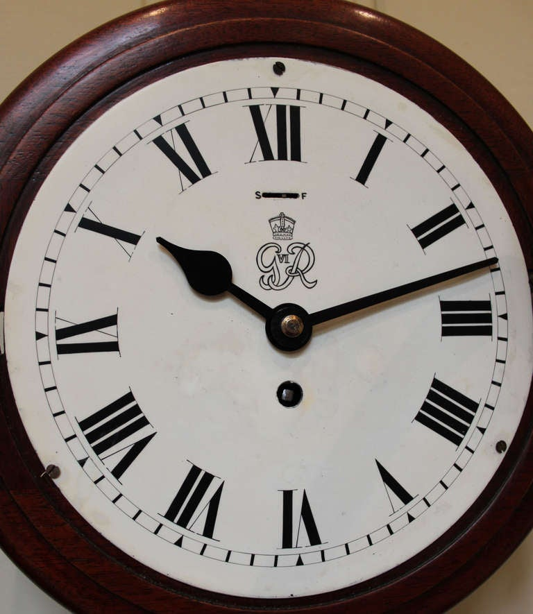 original 8 quot dial post office wall clock at 1stdibs
