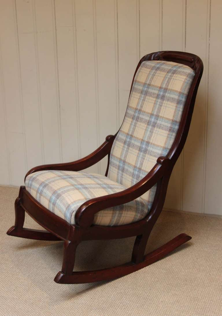 Victorian rocking chair - Late Victorian Upholstered Rocking Chair 2
