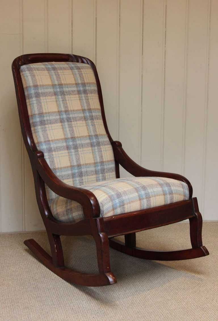 Late victorian upholstered rocking chair at stdibs