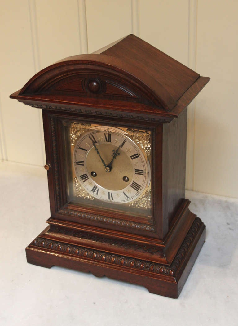 edwardian oak ting tang bracket clock at 1stdibs
