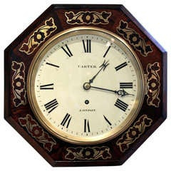 Small Regency Octagonal Wall Clock