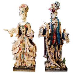 Pair of Tony Duquette Fantasy Sculptures, 1952