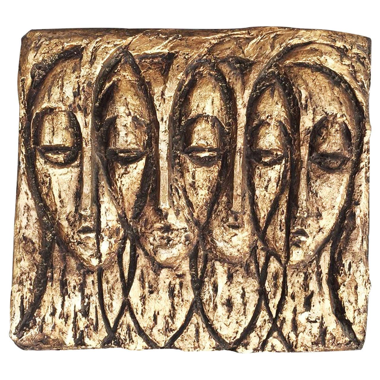 Finesse Originals Gilt Fiberglass Relief Sculpture Circa