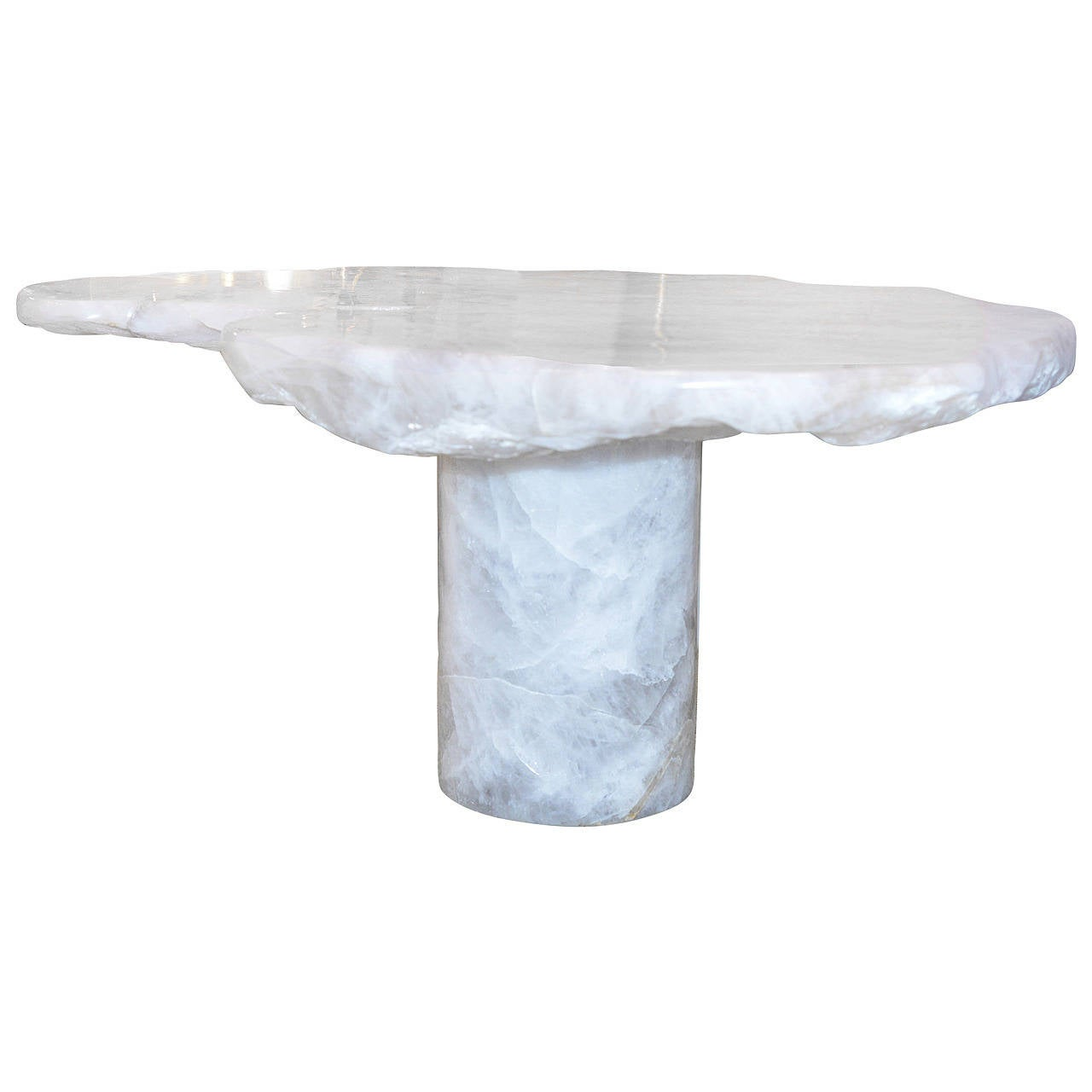 cloud form rock crystal quartz low table by adam fuks for. Black Bedroom Furniture Sets. Home Design Ideas