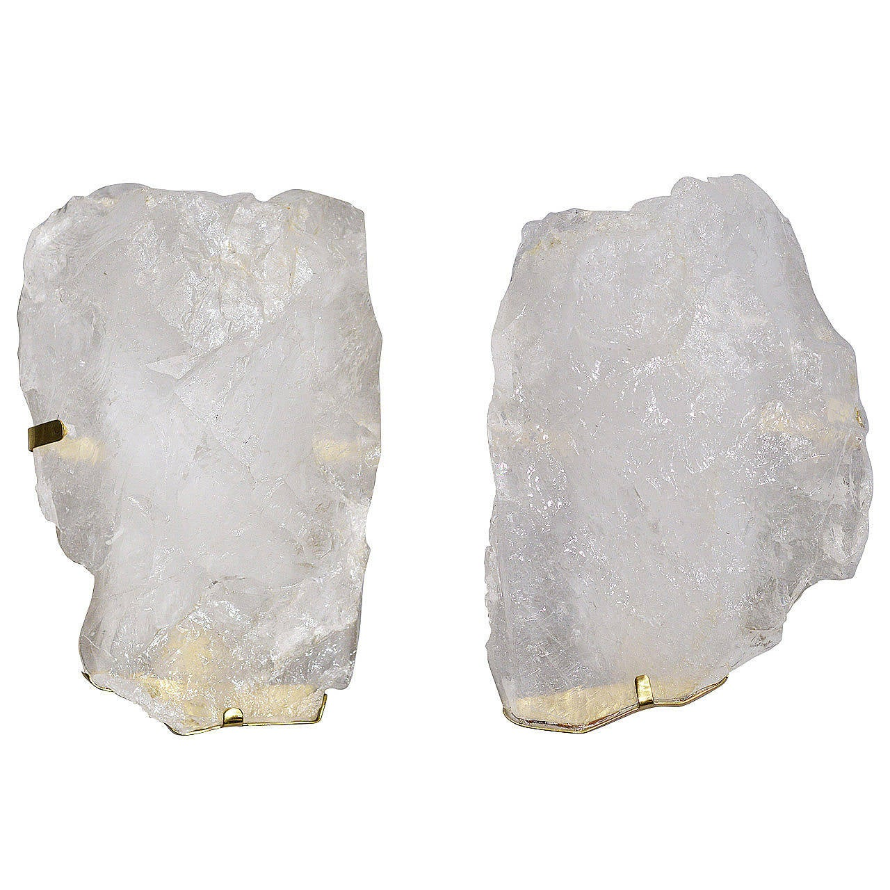 Rock Crystal Wall Sconces : Pair of Rock Crystal Quartz Sconces at 1stdibs