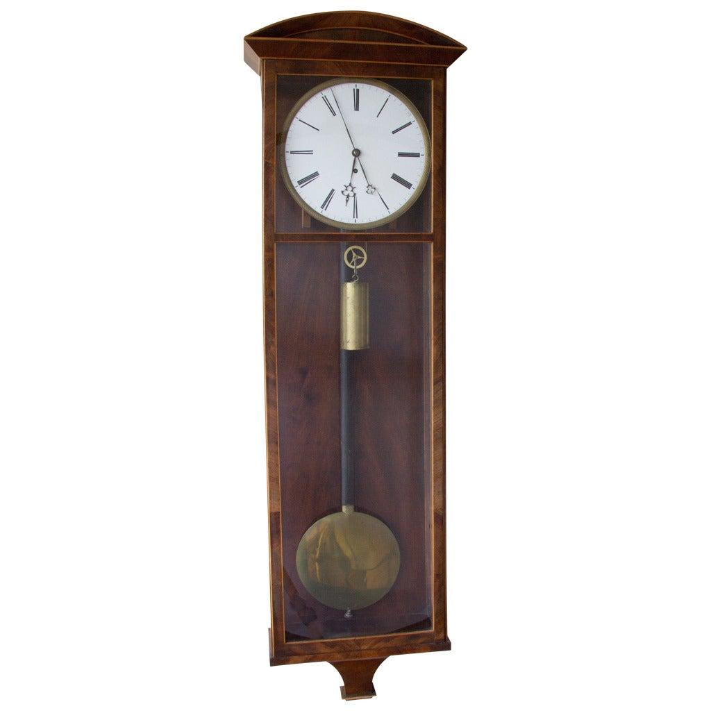 Biedermeier Vienna Regulator Clock At 1stdibs