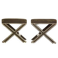 Pair of  Cross Leg Stools