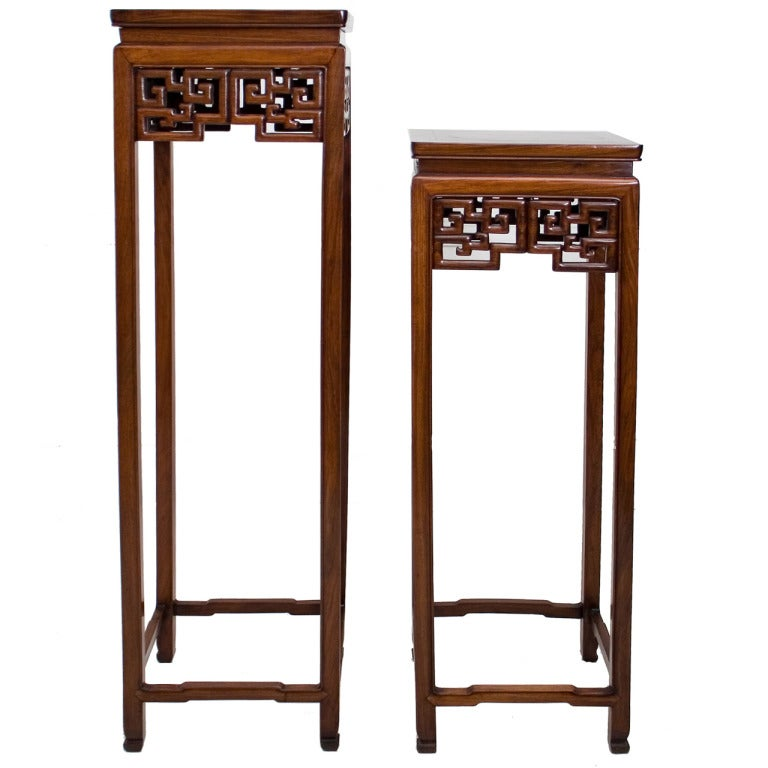 Chinese Square Hardwood Stand At 1stdibs