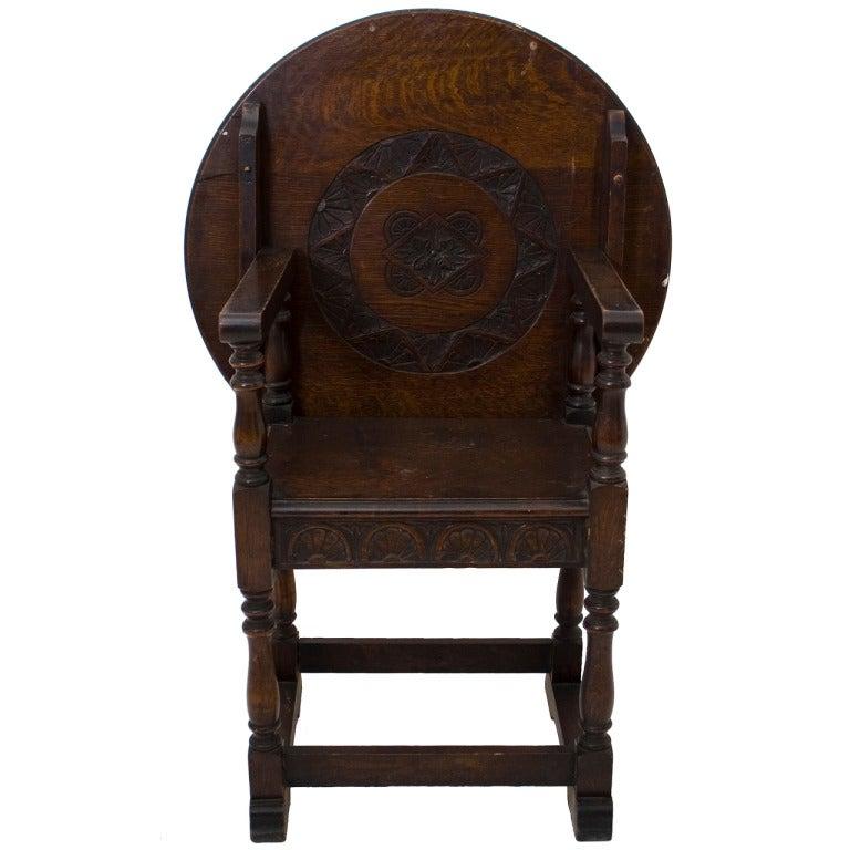 jacobean style oak table chair at 1stdibs