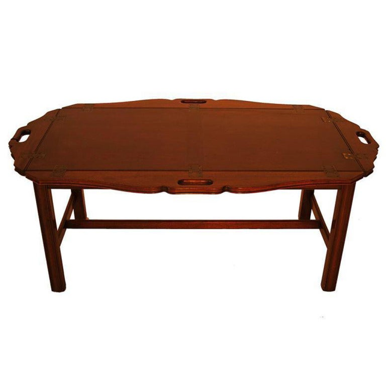 American Mahogany Butler 39 S Tray Top Coffee Table At 1stdibs