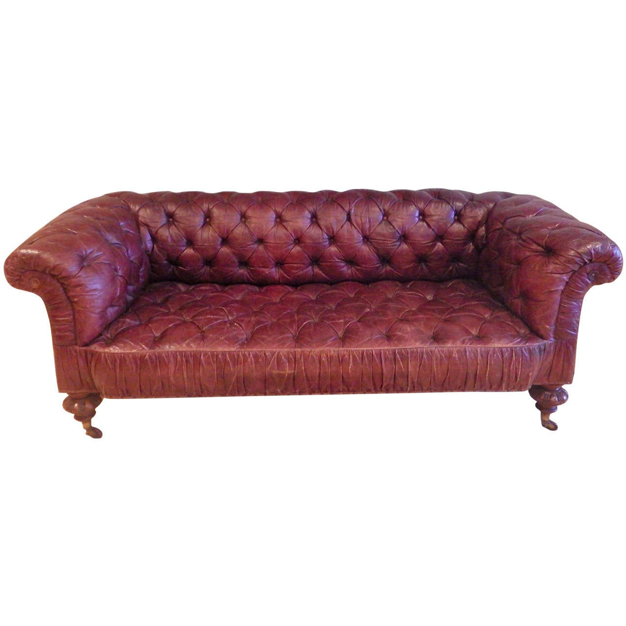 Victorian Leather Sofa Victorian Styled Leather Sofa By