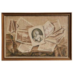 Pair of 18th Century Tromp L'Oeil Compositions
