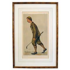John Ball, Chamion Golfer Vanity Fair Print