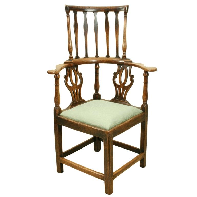 antique high back corner chair at 1stdibs
