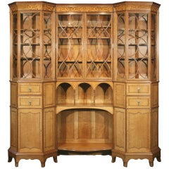 Antique Mahogany, Satinwood, Cabinet by George Jack and Morris & Co.