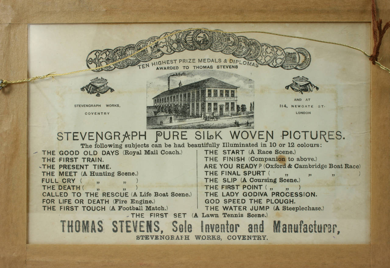 English Stevengraph, a Tennis Match, the First Set For Sale