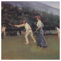 Lawn Tennis, Ltd. Edition Print, 1912 Newcastle Co. Down, Ireland.