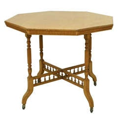19th Century Arts and Crafts Oak Table by James Shoolbred