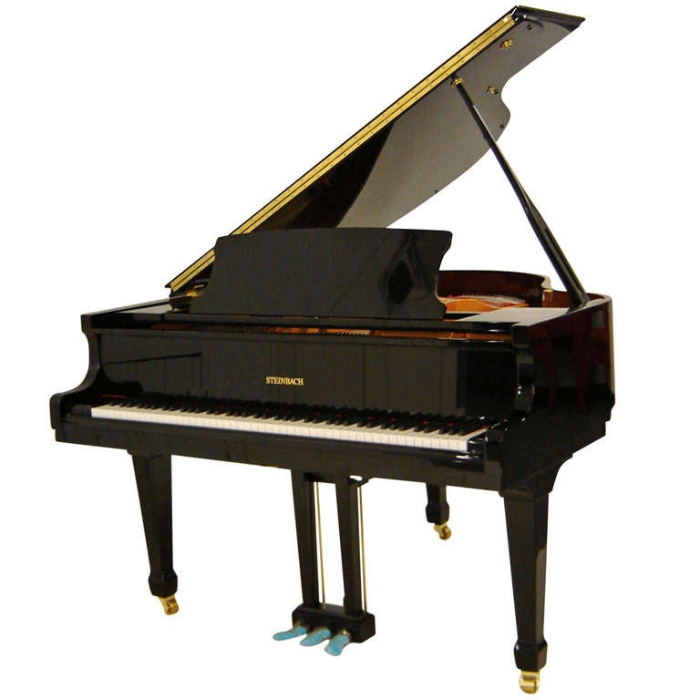 Steinbach baby grand piano 148cm black new at 1stdibs for Baby grand piano height