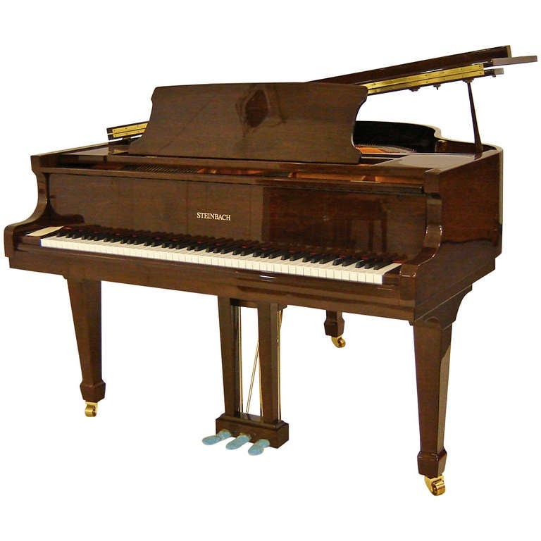 Steinbach baby grand piano 148cm walnut at 1stdibs for Baby grand piano height