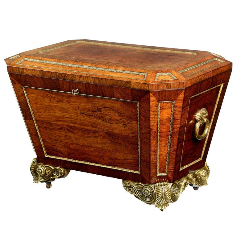Regency Rosewood and Ormolu Mounted Wine Cooler at 1stdibs