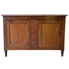 18th Century French Period Louis XVI Walnut Buffet de Chasse