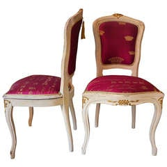 Pair of 19th century Louis XV Style Chairs