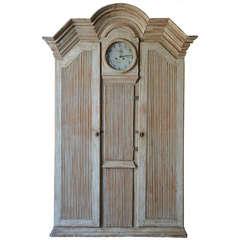 19th Century Gustavian Clock Cabinet
