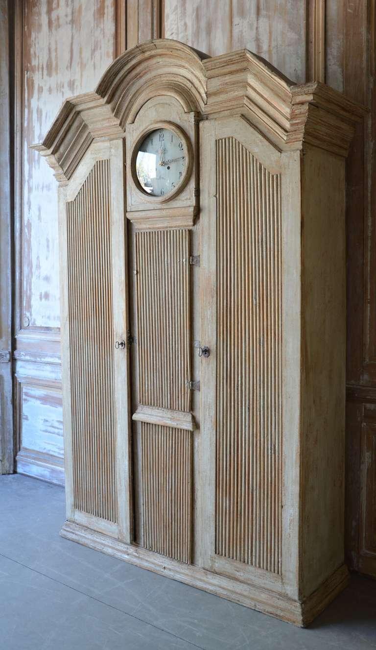 Swedish 19th Century Gustavian Clock Cabinet For Sale