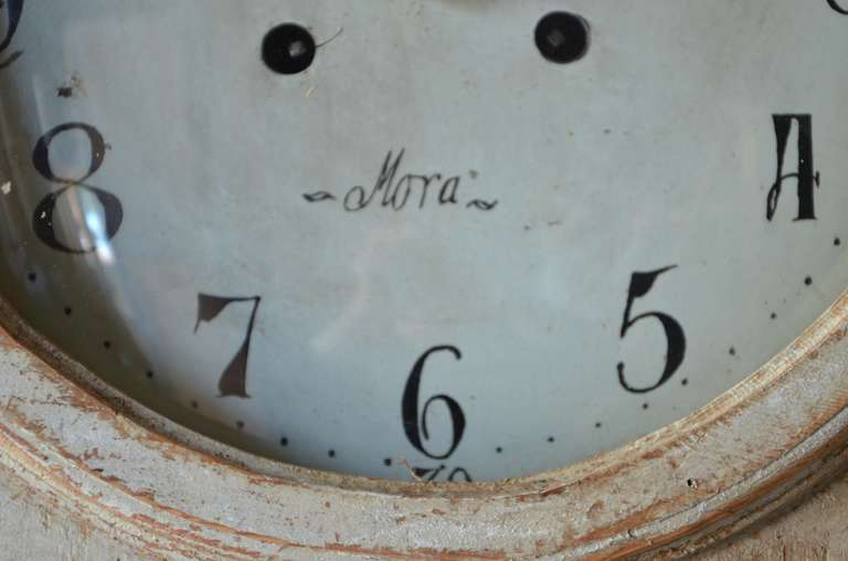 19th Century Gustavian Clock Cabinet For Sale 3