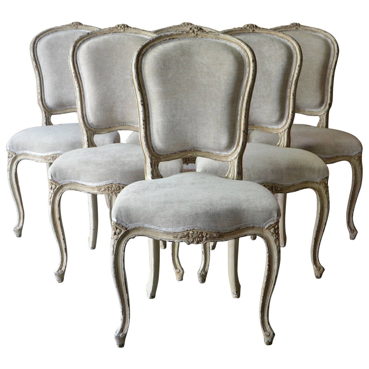 Set of Six French Louis XV Style Chairs at 1stdibs