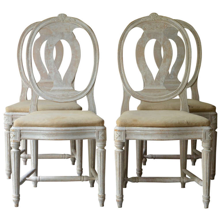 Set of Four 19th Century Swedish Medallion Back Chairs For Sale  sc 1 st  1stDibs & Set of Four 19th Century Swedish Medallion Back Chairs at 1stdibs