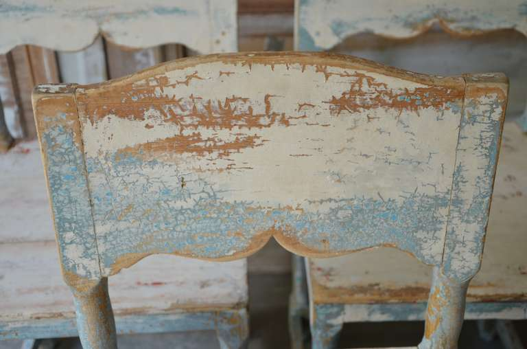 19th Century Painted Swedish Country Chairs 7