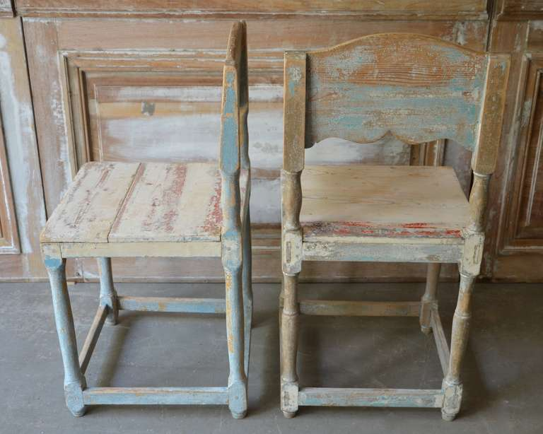 19th Century Painted Swedish Country Chairs 5