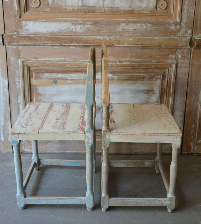 19th Century Painted Swedish Country Chairs 6