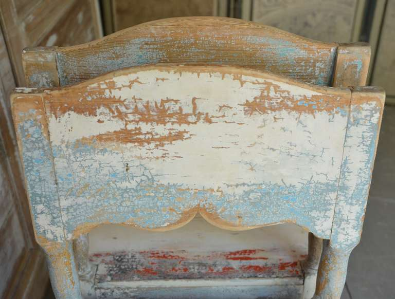 19th Century Painted Swedish Country Chairs 8
