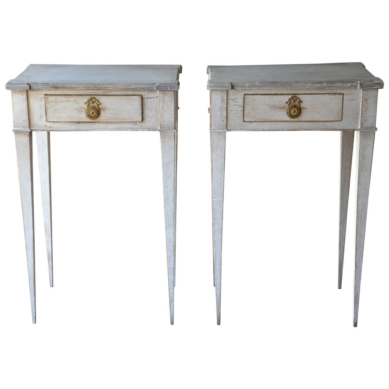 Pair of 19th century swedish gustavian side tables at 1stdibs for Oka gustavian side table