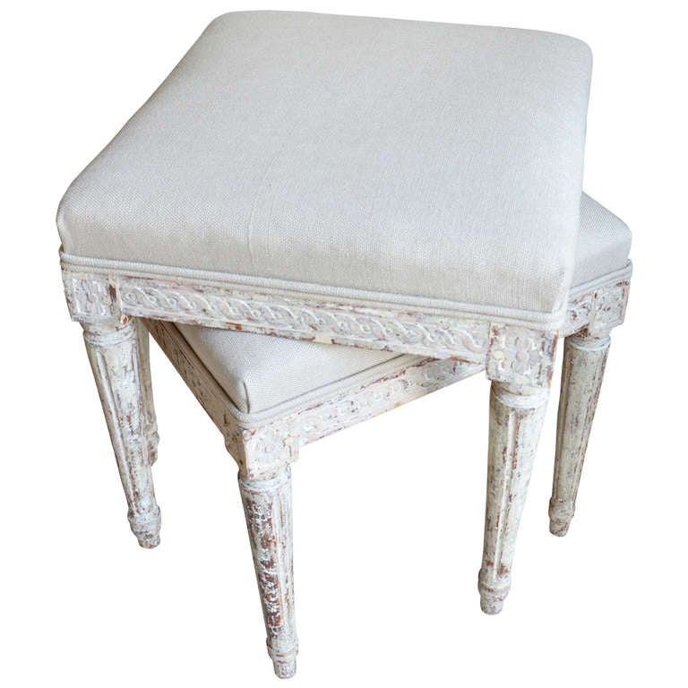Pair of Gustavian Stools
