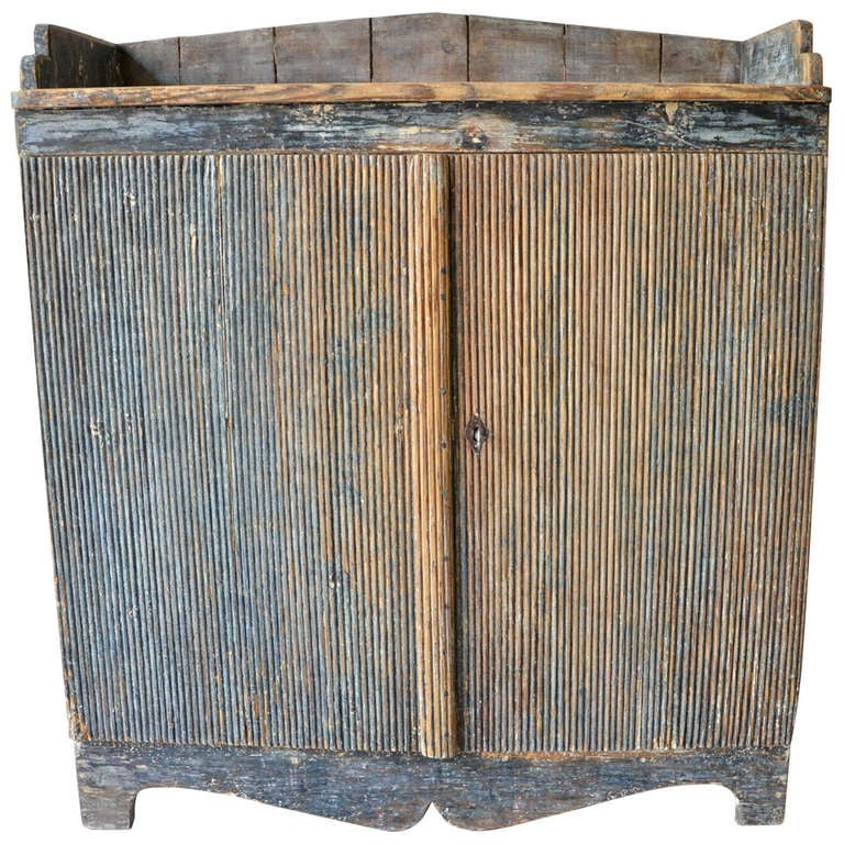 9th Century Gustavian Painted Sideboard Sweden Circa
