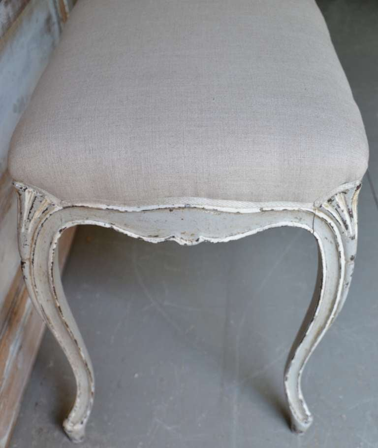 20th Century Painted Small Louis XV Style Bench For Sale