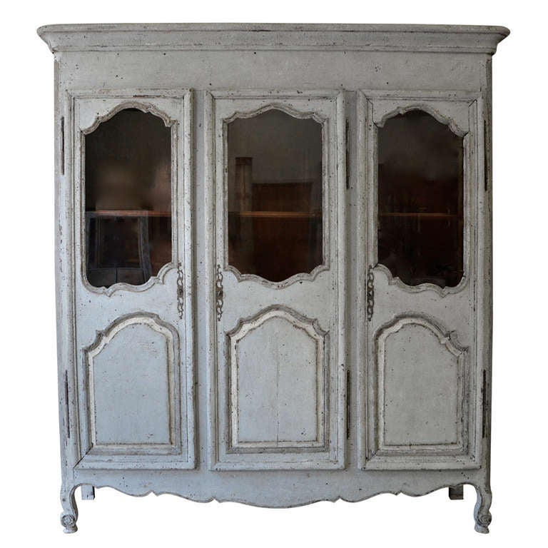 18th Century French Painted Armoire 1