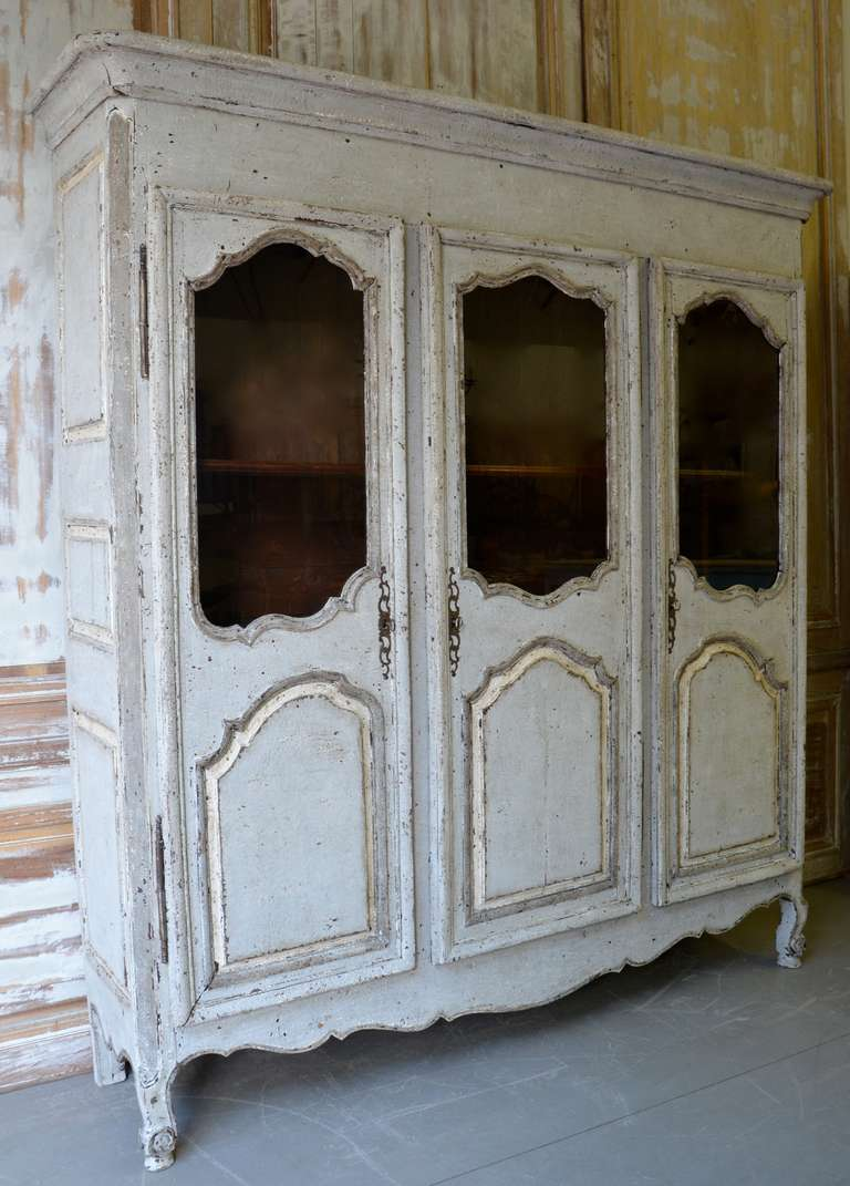 18th Century French Painted Armoire 2