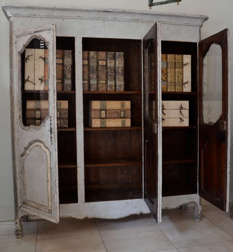 18th Century French Painted Armoire 4