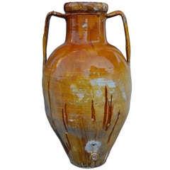 Large 19th century Italian Terracotta Jar, Capasone