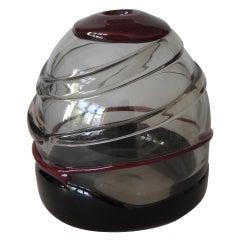 Luciano Gaspari Sasso Murano Glass Vase, 1970
